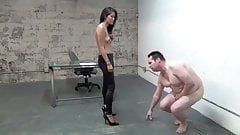 asian boss ball busting slave