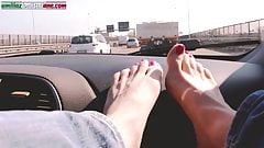Traveling With Lisa -Amateur Foot Smelling Worship In the Ca