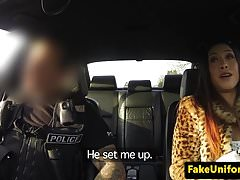 Policeman picks up slut and fucks her pussy