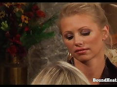 On Consignment 3: Lesbian Mistress Bounds And Brands Slave's Thumb