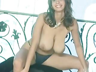 Beautiful exotic model with huge boobs