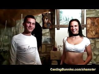 young couples first anal casting tape