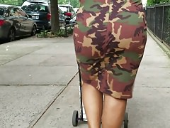 THICK MAMI IN CAMO DRESS
