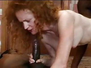 English Red Headed Screamer Fucks Two Black Cocks F