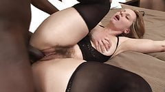 Blonde slut gets her hairy pussy fucked