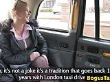 Pierced Czech taxi babe cocksucks cabbie pov