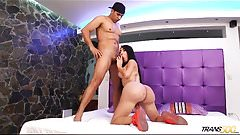 Tranny get her big ass fucked and banged