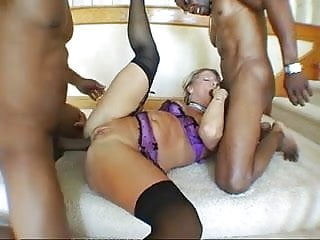 Hot blonde, fucked in the ass by BBC