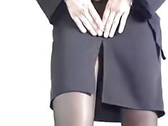 Cum on Black Pantyhose. Tease and fuck