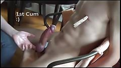 straight guy cums 5 times