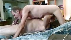 2 old daddys sucking and fucking