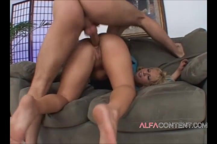 Blonde bitch with big ass gets her butt hole destroyed