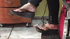 Candid Gilf Feet in Sandals