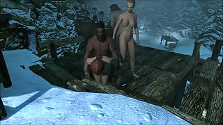 Elisif nude and helpless in Skyrim pt7