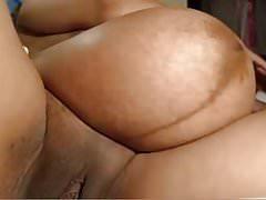 Huge pregnant tummy, big dark nips & lips