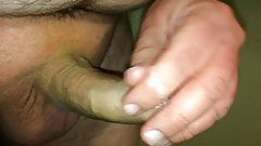 Wanking and cumming while watching a vid