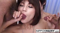 Little Asian doll is the star of a blowbang