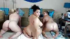 3 Teen BBW Showing Off On Cam