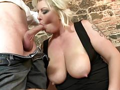 Big moms with big chest blow and fuck sons