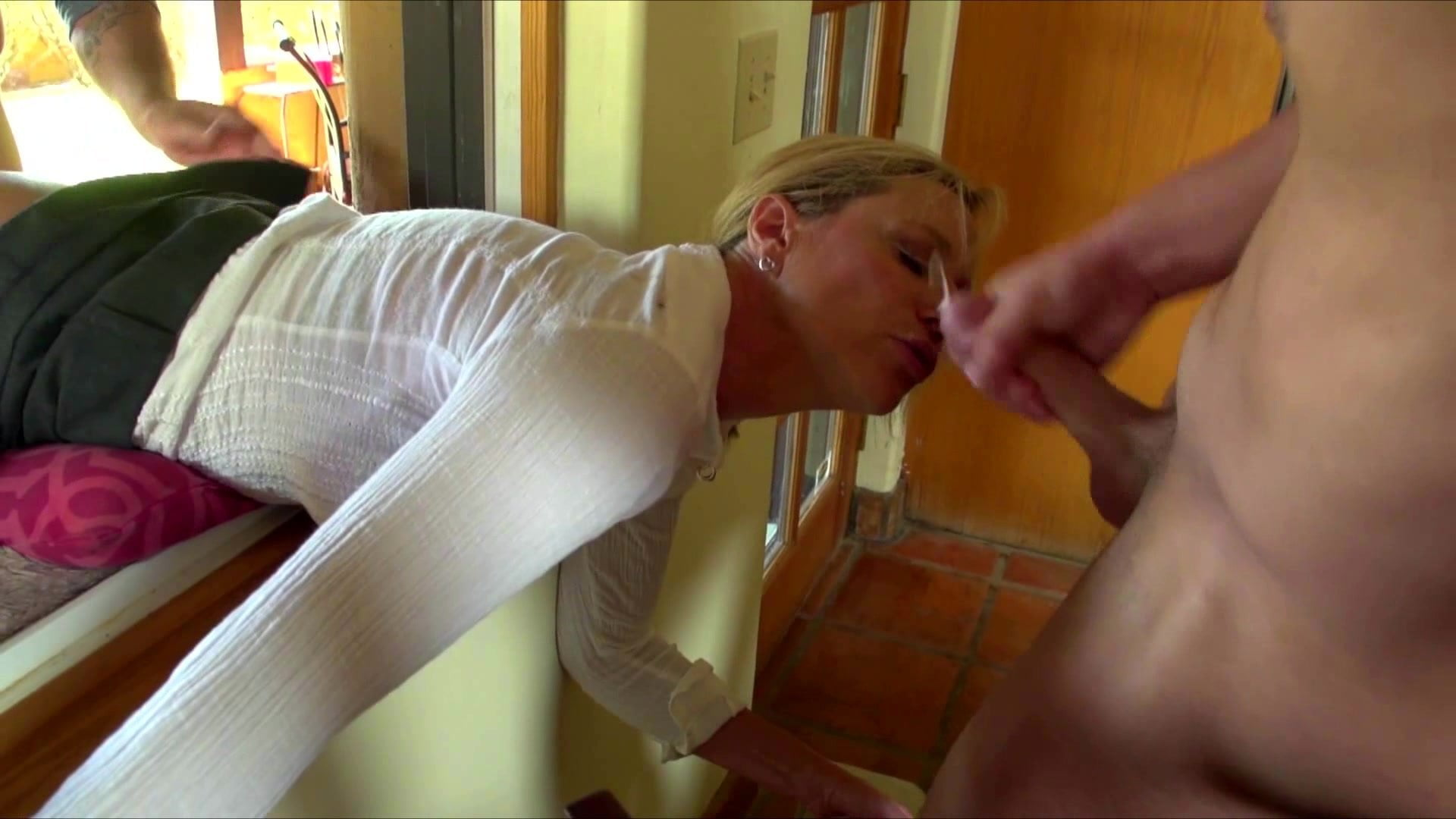 Jodi west stuck in window porn