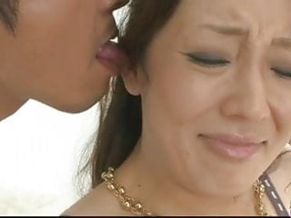 Nasty and kinky brunette Asian playing with a hard cock