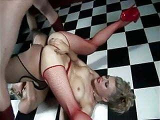 Two fishnet sluts get fucked