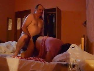 Chubby couple having chubby sex