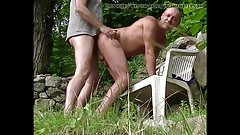 A Gy Sodomise me in his Garden