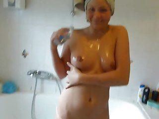 German Girl Getting Creampied In The Bathroom
