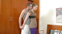 Young Skinny Girl Caught and Fucked Hard by Big Cock
