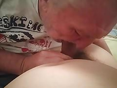 Gramps sucks young thick cock