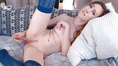 Hot Flawless Teen Fuck Her Pussy With A Glass Dildo