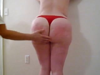 BBW SPANKED bare hand fat ass thongs punished ass chubby