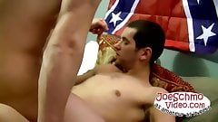 Horny amateur fuckers jerking off their cocks and fucking