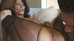Hot brunette fucked in sexy pantyhose