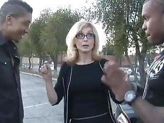 Nina hartley porn tube - Milf nina hartley takes two black cocks