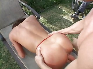 Young stud gets his hard cock swallowed by a horny married slut then fucks