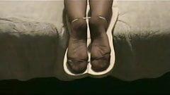I will torture your soles till I come, little slut!