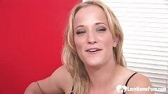 Sexy babe strips before she's slammed hard