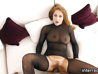 Passionate babe Roberta Gemma loves a big black cock