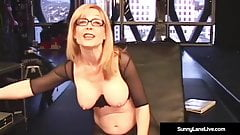 Younger Sunny Lane Punished By Almost Granny Nina Hartley!