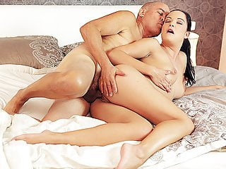 DADDY4K. Beautiful chick and old man unite naked bodies in..