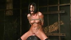 Miss Evans soaks the Sybian