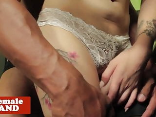 Preview 2 of Interracial TS beauty plowed in the kitchen