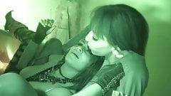 Lezbian smoke kissing