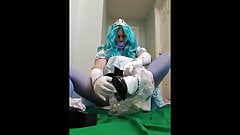 Adultbaby sissy gets the ultimate diaper