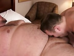 chubby fat thick dick bareback young uncle bear overweight