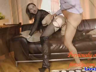 Pussylicked brit milf sharing cock doggystyle