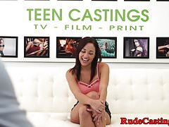 Casting teen gets doggystyle pounded