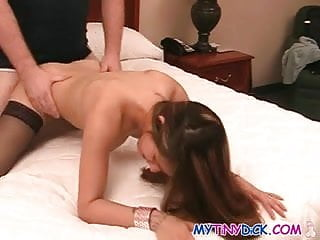 Delicious babe gets her pussy spread wide open
